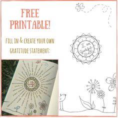 Free gratitude printable available @ bohoberry.com