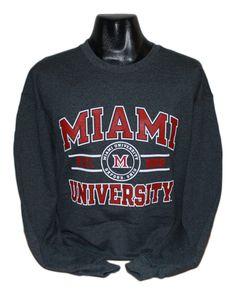 Russell Athletic Miami University Black Heather 12180431 (SKU 12180455500055)
