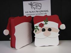 Santa Top Note; Christmas treat box holder; big Shot; Bird on a Branch punch; punches; 3D