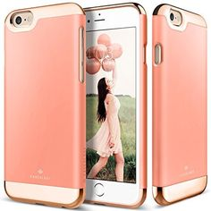 iPhone 6S Plus Case, Caseology® [Savoy Series] [Pink] Dual Layer Slider / Soft…