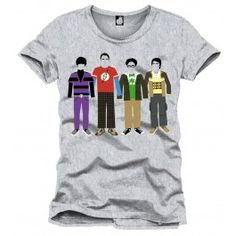 The Big Bang Theory T-Shirt Team Color grey | Captain Hook Merchandise