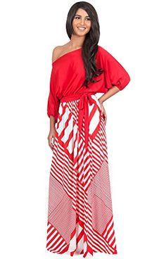 KOH KOH Women's One Shoulder 3/4 Sleeve Graphic Print Cocktail Maxi Dress -XX-Large - Red and Off White Koh Koh http://www.amazon.com/dp/B00XHK534I/ref=cm_sw_r_pi_dp_Ygi4wb0S4BQSJ
