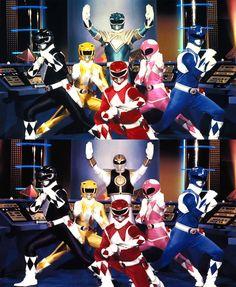 Mighty Morphin Power Rangers: Green Ranger then White Ranger Power Rangers Ninja Storm, Pink Power Rangers, Power Rangers Movie, Mighty Morphin Power Rangers, Power Rangers Timeline, Mascara Power Rangers, Original Power Rangers, Power Rengers, Rangers Team