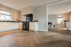 The flooring throughout your home can really improve the entire appearance of each room. Home Living Room, Living Room Designs, Kitchen Dinning, Wooden Flooring, Kitchen Interior, Home Kitchens, Beautiful Homes, Sweet Home, New Homes