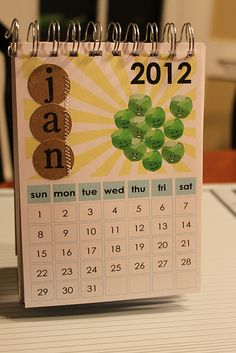 DIY calendar  ***Like placement of month