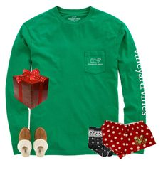 """Christmas morning pjs"" by secfashion13 ❤ liked on Polyvore featuring Vineyard Vines, UGG Australia, Charter Club, women's clothing, women, female, woman, misses and juniors"