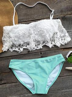This bikini is as beautiful as a the melody of a love song! The lace part is so chic and feminine. Make sure to add this Sweet Like Candy Lace Bikini Set to your collection, it definitely is a must have!