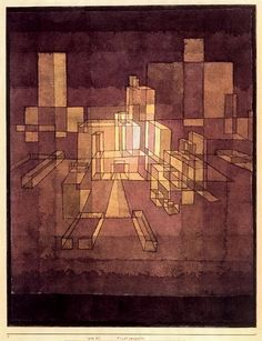 Paul Klee, Urban Perspectve, 1928. I like the lighting on this perspective piece from Paul Klee.