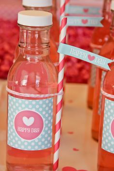 Drinks at a Valentine's Party #valentinesparty #drinks