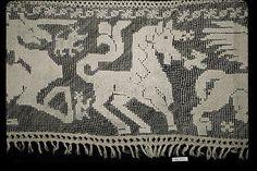 Border Date: 15th–16th century Culture: Sicilian Medium: Embroidered net Dimensions: L. 75 x W. 9 inches 190.5 x 22.9 cm Classification: Textiles-Laces