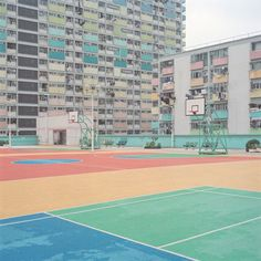 Austrian photographer, Ward Roberts, spent four years documenting courts and fields from all around the world. Roberts' photos are usually of empty landscapes, highlighting the loneliness and… Its Nice That, Photography Photos, Sport Photography, Pastel Colors, Pastel Pallete, Pretty Pictures, Hong Kong, Around The Worlds, City