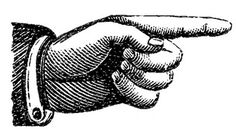 Victorian Clip Art - Pointing Hands - Steampunk - The Graphics Fairy