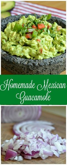 Perfect This homemade Mexican Guacamole is easy to make and goes perfect as an appetizer or side dish. The post This homemade Mexican Guacamole is easy to make and goes perfect as an appetizer or side dish. appeared first on Sweet Recipes . Avocado Recipes, Vegan Recipes, Cooking Recipes, Tostada Recipes, Sweet Recipes, Chicken Recipes, Mexican Dishes, Mexican Food Recipes, Vegetarian Recipes