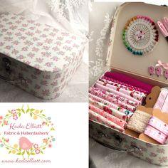 Fabric filled suitcase gift from Kaela Elliot