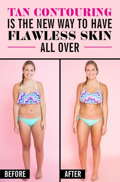 Tan contouring is the new way to have FLAWLESS skin ~all over~