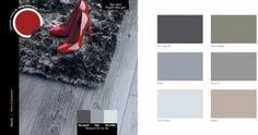couleurs décoration harmonie nuancier taupe gris beige, couleur en contraste rouge