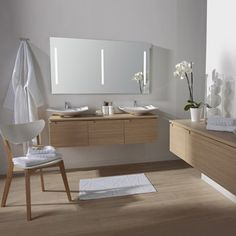 meuble de salle de bains surabaya iii, marron chez leroy merlin fr ... - Parquet Teck Salle De Bain Leroy Merlin