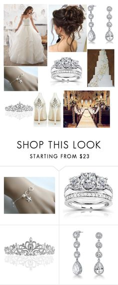 """""""My Big Fat Wedding"""" by annawell-1 ❤ liked on Polyvore featuring Becca Cosmetics, HARRIET WILDE, Kobelli and Bling Jewelry"""