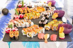 El festín: Sushi variado preparado en el momento