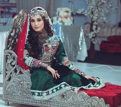 Afghan Wedding Dress, Wedding Dresses, Ethnic Fashion, Work Fashion, Afghani Clothes, Red Frock, Afghan Girl, Ankle Jewelry, Afghan Dresses