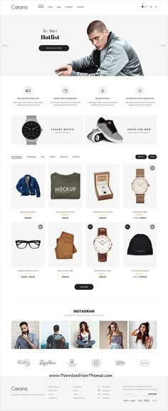 Cariana is a clean and modern design responsive #WooCommerce #WordPress #theme for stunning online #shop #eCommerce website with 18+ niche homepage layouts to download & live preview click on image or Visit 🡽 Online Web Design, Ecommerce Website Design, Homepage Design, Ecommerce Websites, Ecommerce Template, App Design, Design Trends, Design Ideas, Ui Website
