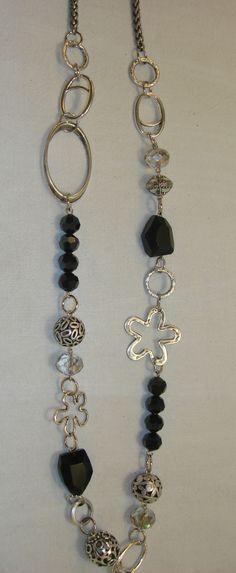 Long necklace by Razelle Troester Stone Jewelry, Wire Jewelry, Pendant Jewelry, Beaded Jewelry, Jewelry Necklaces, Long Necklaces, Handmade Jewelry Designs, Handmade Necklaces, Diy Necklace