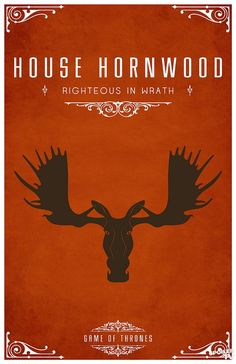 House Hornwood. Game of Thrones house sigils by Tom Gateley. http://www.flickr.com/photos/liquidsouldesign/sets/72157627410677518/
