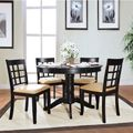Wilma Black Window Back Round Pedestal 5-piece Dining Set | Overstock.com Shopping - The Best Deals on Dining Sets