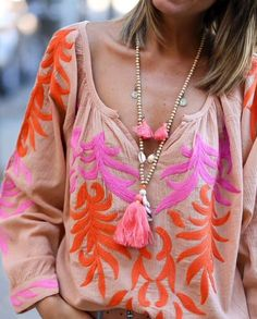 Perfect Pink and Tangerine hues... Boho Style Boho Accessories
