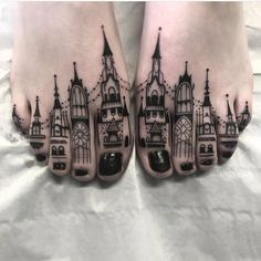 These toe tattoos. Know someone who should have this done?