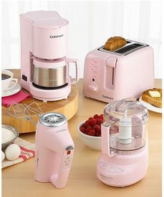 Cuisinart Pink Appliances - a portion of proceeds from sales will be donated to breast cancer research.