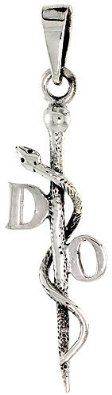 Amazon.com: Sterling Silver Doctor of Osteopathy Insignia Pendant, 1 inch tall: Jewelry