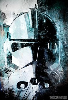 Clone Trooper from Star Wars - Poster size Art print on Canvas 24x36. $150.00, via Etsy.