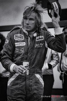 """""""Hunt Salute"""" - Richard Kelley - Motorsport / Formula 1 pictures for home decoration - James Hunt in 1977"""