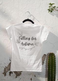 Falling For Autumn Shirt Cute Fall Tee Autumn Shirt | Etsy