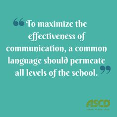 By developing a set of common goals that all teachers understand and by giving teachers a common language to discuss and measure their progress towards these goals, all school and district leaders can work together to promote student learning and professional growth at the highest levels