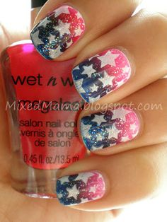 need to do my nails like this for birthday week July 4th!