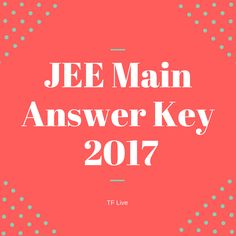 Jee main 2016 answer key by career point institutes