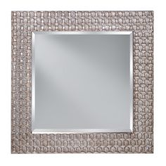 ANTIQUE SILVER LEAF - MIRROR Antique Silver Leaf Flies STYLE NO.: MR1199ASLF  DESCRIPTION - Dimensions:W: 42'' H: 42''  Glass: Glass in Clear finish Fixture may be mounted horizontal or vertical DETAILS - Feiss.com