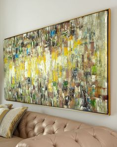 """Slickers"" Original Abstract Painting at Neiman Marcus."