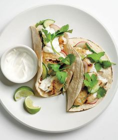Tilapia Tacos With Cucumber Relish  This fresh, healthy take on fried fish tacos stars grilled tilapia dressed up with crisp radishes, cucumbers, and lime juice