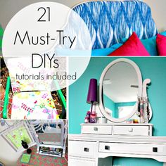 Sharing tons of Tips & Tricks! 21 Must Try DIY Tutorials you can totally do to make your home beautiful for Spring.