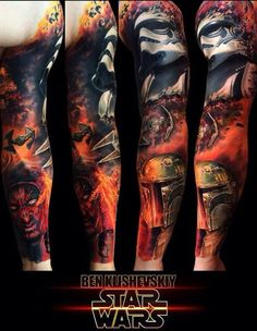Not into star wars tats. Darth Maul Tattoo, Stormtrooper Tattoo, Great Tattoos, Body Art Tattoos, Tattoos For Guys, War Tattoo, Star Wars Tattoo, Tattoo Cover Up, Avengers Tattoo