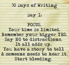 1st date on this 30-day renewed love affair w/writing. Wrestled with my urge to zombie-scroll through my newsfeed & email first thing in the morning. Didn't think I was such an addict. Focus is the new Muse. Adventure high, creative energy & excitement might increase in the next few days before the Grinch strikes. | andreabalt.com #30daysofwritin