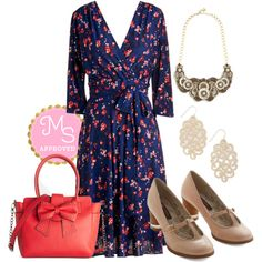 Station Mate Dress by modcloth on Polyvore featuring Karina and Betsey Johnson