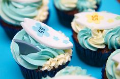Surfing cupcakes. by CupcakesByTara, via Flickr