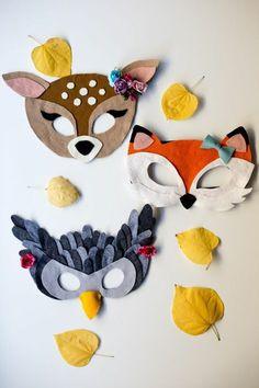 For kids, animal masks for kids, felt crafts kids, crafts for Animal Masks For Kids, Animals For Kids, Mask For Kids, Felt Crafts Kids, Sewing Projects, Craft Projects, Felt Mask, Carnival Masks, Felt Diy