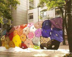 jean-shin-1 umbrella tapestry
