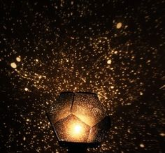This star projector projects a map of the heavens onto your ceiling and walls with thousands of stars in random order