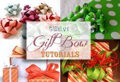 Twelve Gift Bow Tutorials | onelittleproject.com